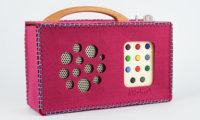 hörbert felt-bag in dark pink
