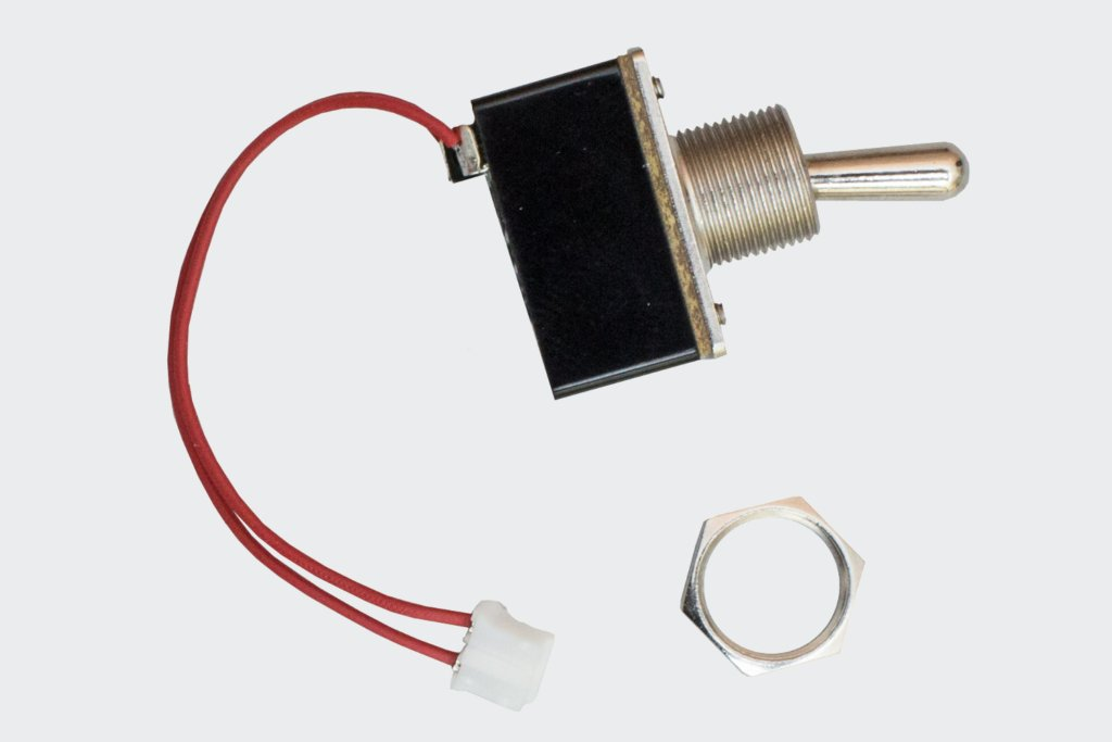 Toggle switch with cable and nut