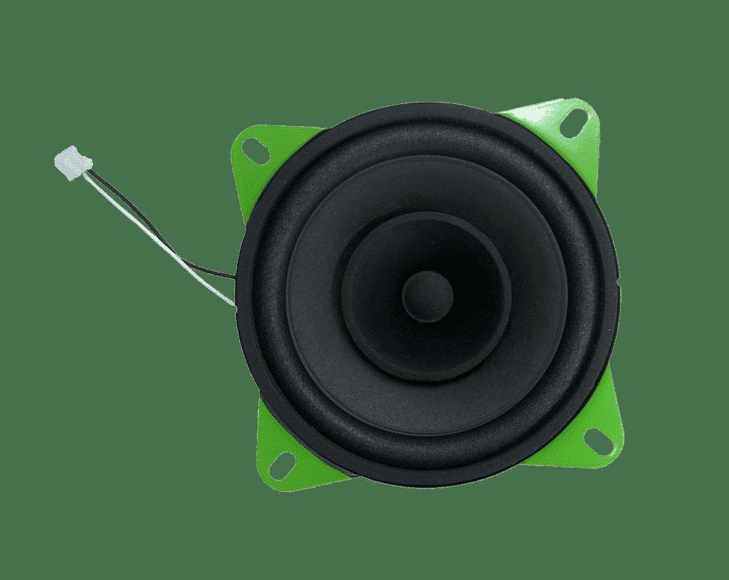 Green Visaton loudspeaker in the hörbert edition