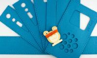 Nähset für eine hörbert-Filztasche in blau