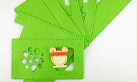 Nähset für eine grüne Filztasche für hörbert