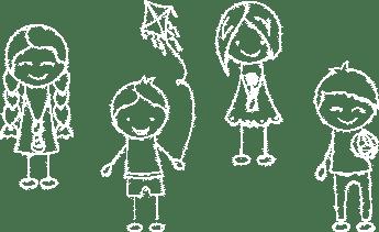 Illustration: Line drawing of children