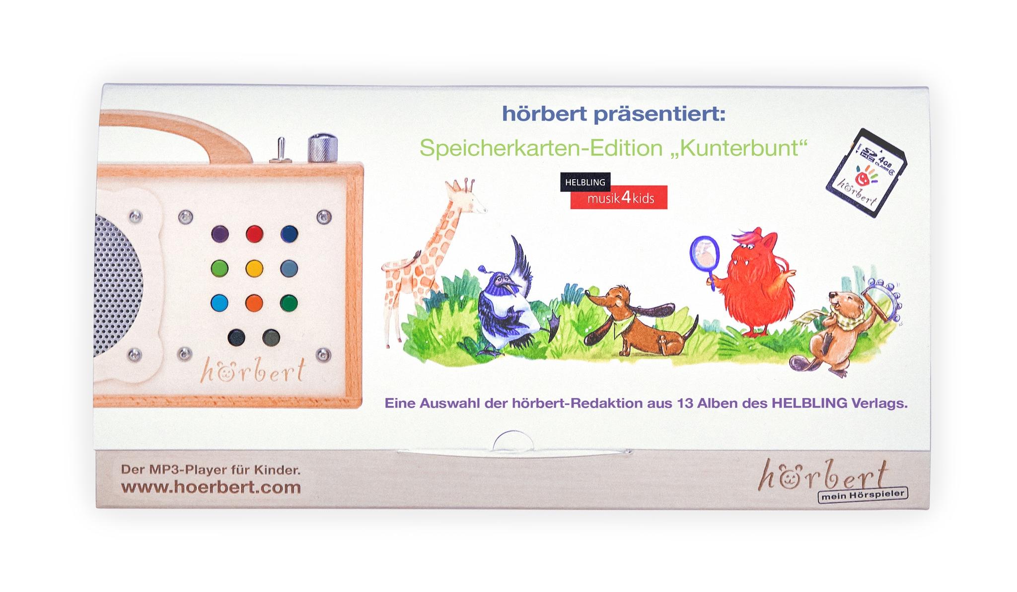 Die Speicherkartenedition Kunterbunt vom Helbling Verlag