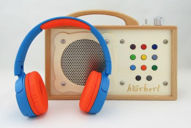 """Children's """"radio"""" with headphones"""