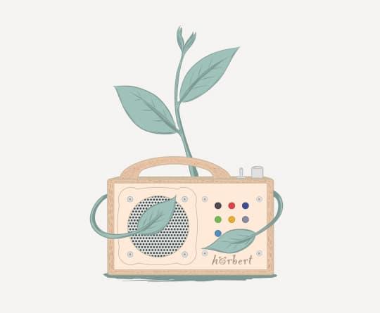 Illustration: hörbert mit Pflanze