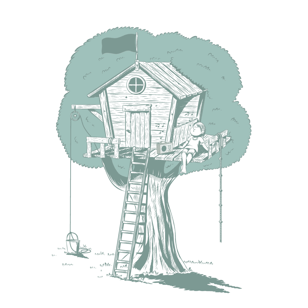 Baumhaus Illustration