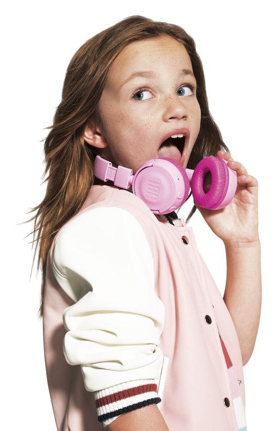hörbert Bluetooth-Headphones in Pink