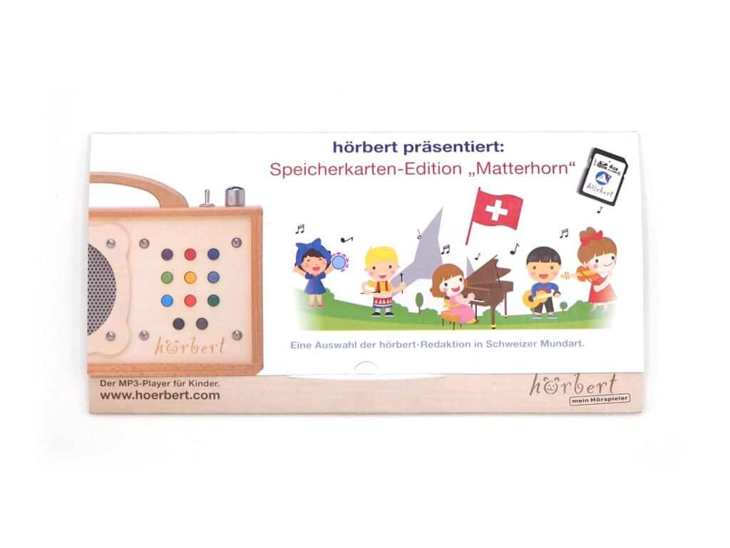 Packaging of the Matterhorn memory card for hörbert