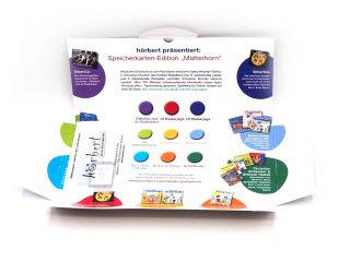 Packaging of the Matterhorn memory card for hörbert, inside